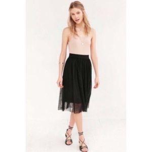 Urban Outfitters Mesh Ballet Midi Skirt NWOT